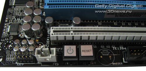 ASUS P6X58D Premium кнопки
