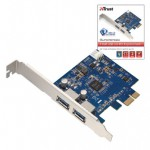 Контроллер Trust SuperSpeed 2 Port USB 3.0 PCI Express Card
