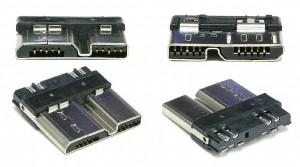 Вилка SuperSpeed USB Micro-B в разборе