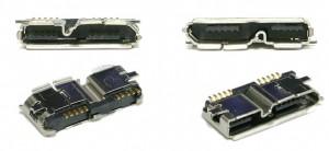 Розетка SuperSpeed USB Micro-B в разборе