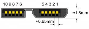Распиновка вилки USB 3.0 Micro-B