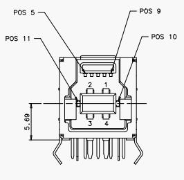 Розетка USB 3.0 Powered-B