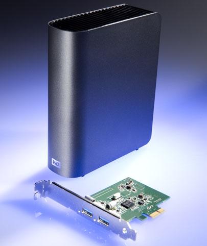 WD MyBook 3.0 в комплекте с USB 3.0 контроллером