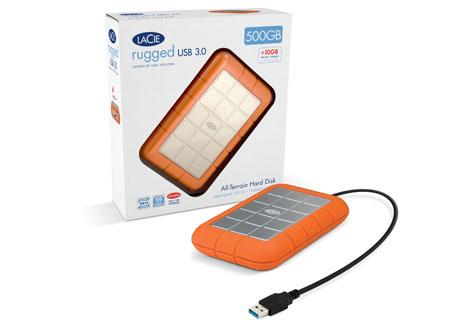 Ударопрочный LaCie Rugged USB 3.0 - комплект поставки