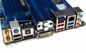 ASUS E35MI-I Deluxe - порты ввода\вывода