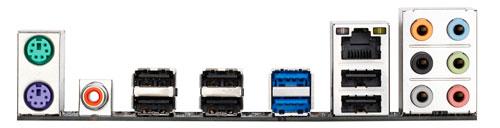 Gigabyte GA-P65A-UD3 - задняя панель