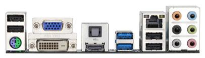 Плата Gigabyte GA-E350N-USB3 - порты ввода-вывода