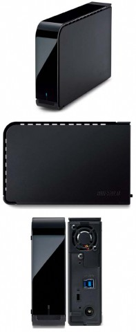 Внешние диски Buffalo HD-LXVU3 и HD-LXU3 - вид с разных сторон