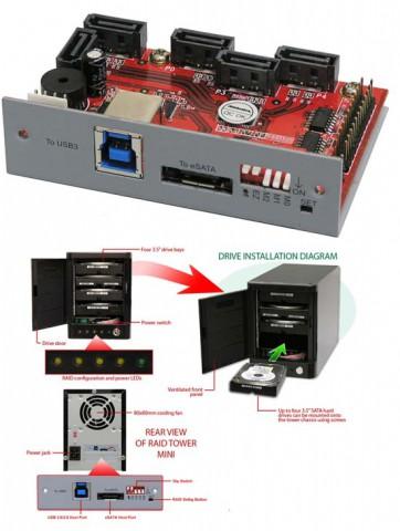 Диаграмма установки Addonics HPM-XU